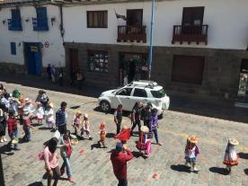 parade featuring children