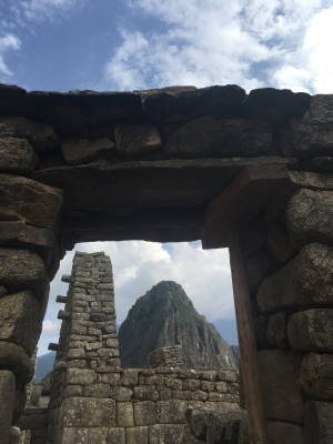 view of Huayana Picchu from MP